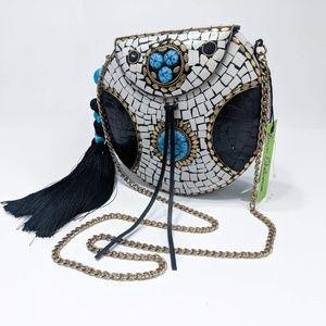 Sam Edelman Beatrice Handbag Metal Chain Crossbody